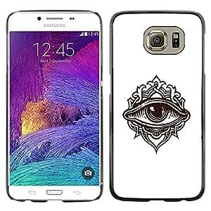 Be Good Phone Accessory // Dura Cáscara cubierta Protectora Caso Carcasa Funda de Protección para Samsung Galaxy S6 SM-G920 // Detailed Eye Illustration