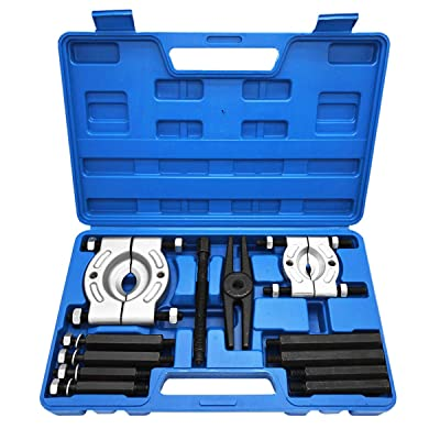 12 Pieces Bearing Splitter Gear Puller Fly Wheel Puller Set, 5 Ton Capacity, Bearing Separator Set with Box Tool Kit: Automotive