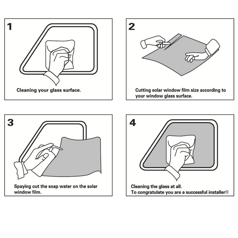 Precauti 50 300CM Pellicola Auto Protezione UV Pellicola Tinta Pellicola Parasole Autoadesivo Avvolgente per la Protezione di Animali Domestici e Beb/è