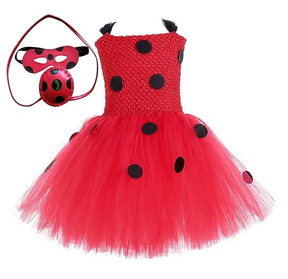 b6227122223 Amazon.com: O'COCOLOUR Halloween Cosplay Ladybug Girls Costume Party ...