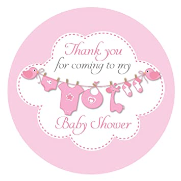 U0027Thank You For Coming To My Baby Showeru0027 Stickers   60mm In Diameter,