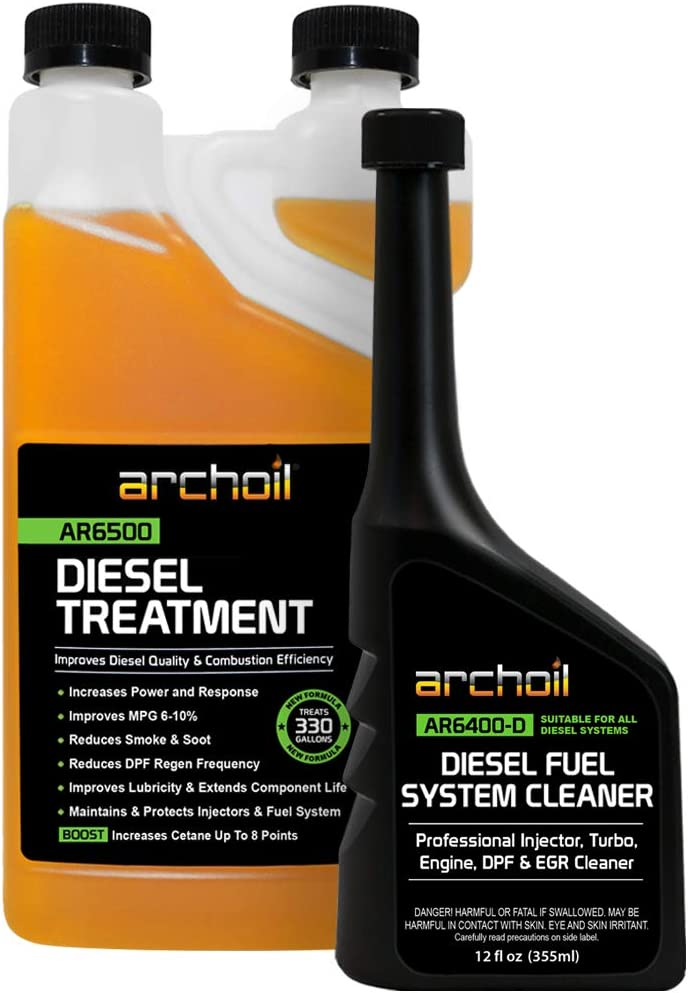 Amazon Com Archoil Diesel Fuel System Kit Ar6500 Diesel Treatment 33 Oz Ar6400 D Diesel Fuel System Cleaner Automotive