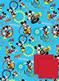 Disney Mickey mouse 2 sheets of gift wrap and 2 gift tags