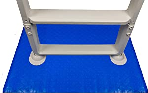 Aqua Select 24-Inch-by-36-Inch Swimming Pool Ladder Mat or Pool Step Pad | Protect Your Vinyl Pool Liner | Acts as A Cushion Between Your Ladder or Step and The Pool Liner | Blue