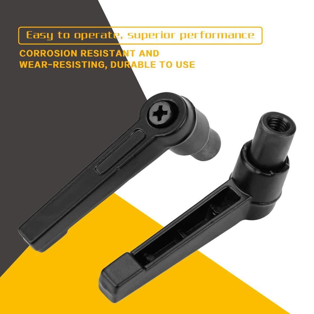 Noir 4PCS Poign/ées de Fixation en Acier Inoxydable R/églables Filetage Femelle M4 // 5//6//8//10//12 M8 63mm