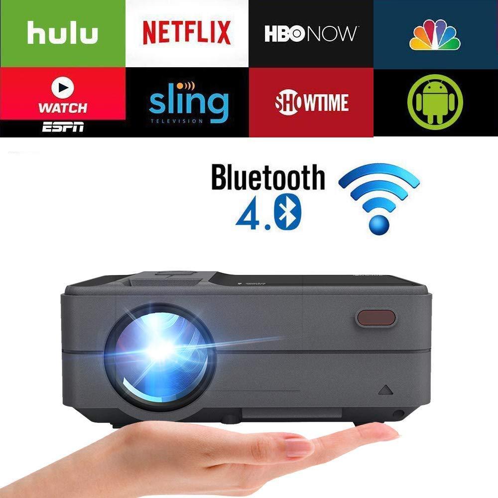 Mini Pico portátil proyector Andriod 6.0 WiFi Bluetooth Soporte ...