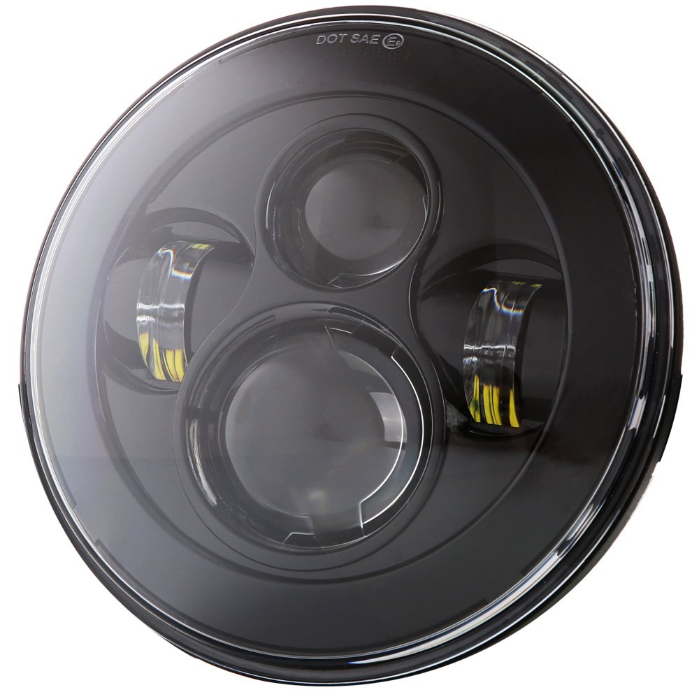 Dot Approved 90w 7 Inch Round Cree Led Headlight High Cj5 Wiring Harness Clips Low Beam For Jeep Wrangler 97 2017 Jk Tj Lj Jku Rubicon Sahara Hummer H1 H2 Toyota Land
