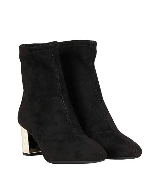 Michael By Michael Kors Mujer 40F8PAME5S001 Negro Cuero Botines: Amazon.es: Zapatos y complementos