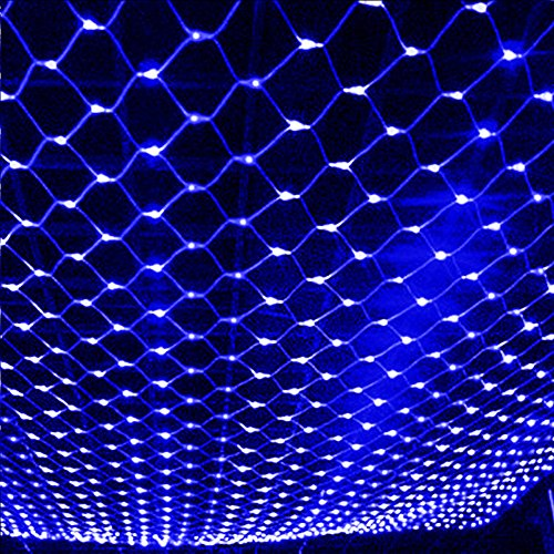ZRUI Led String Lights Fairy Net Mesh Waterproof 8 Models 60x60 inches Dia.1.6mm Stronger Decorative (Blue) by ZRUI