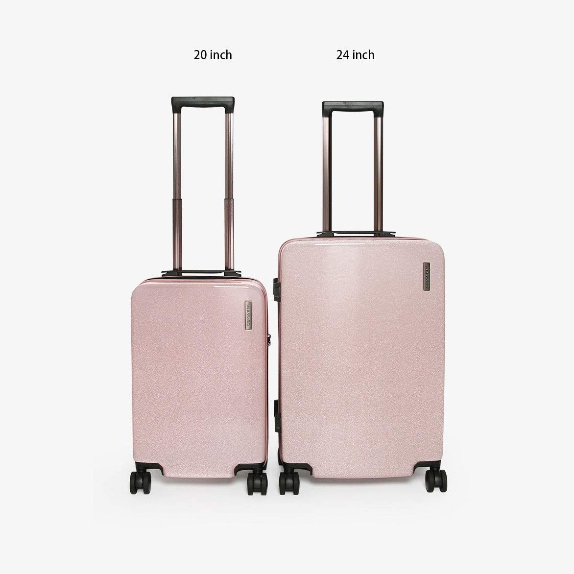 Color : Blue, Size : 20 24 inches Black Minmin-lgx Luggage Trolley Trolley Universal Wheel Suitcase Aluminum Frame Retro Right Angle Lock Box Large Capacity Boarding