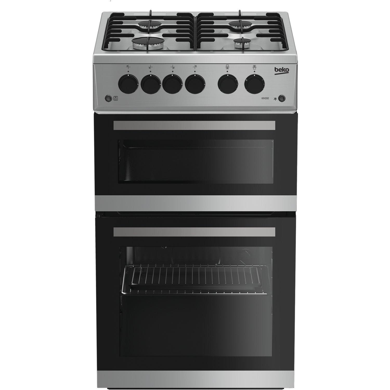 Beko KDVG592S 50cm Double Oven Gas Cooker Silver
