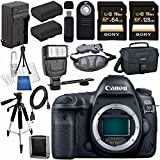 Canon EOS 5D Mark IV DSLR Camera (Body Only) 1483C002 + LPE-6 Lithium Ion Battery + External Rapid Charger + Sony 128GB SDXC Card Bundle