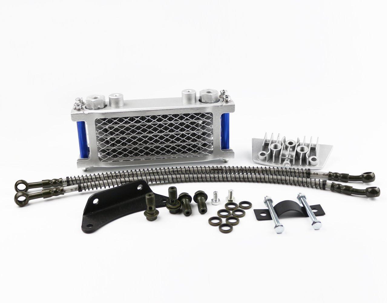3, Blue Oil Cooling Cooler Radiator for Pit Dirt Bike ATV Motorcycle Quad 50 70 90 110CC Pitpro Pitster Pro SDG DHZ SSR Piranha