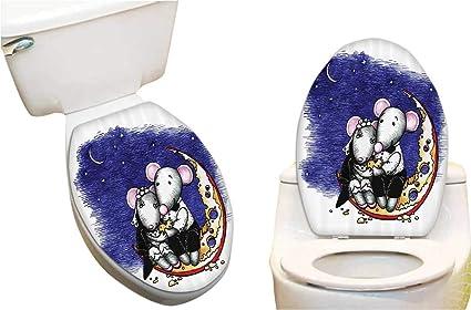 Fine Amazon Com Toilet Seat Sticker Mouse Couple Sitting The Spiritservingveterans Wood Chair Design Ideas Spiritservingveteransorg