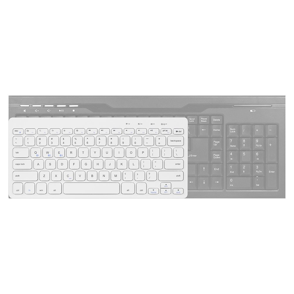 Bluetooth Ultra-Slim Keyboard Wireless with Foldable Stand for iPad Air 2 / Air, iPad Pro, iPad mini 4 / 3 / 2 / 1, iPad 4 / 3 / 2, New iPad, Galaxy Tabs and Other Bluetooth Enabled Devices (White) by Bluegoo (Image #7)