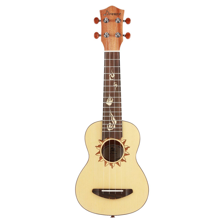 donner soprano ukulele spruce ukele dus 3 21 inch with