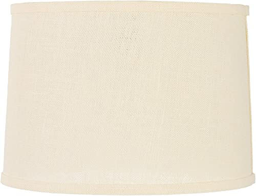 Off-White Burlap Drum Lamp Shade 13x14x10 Spider – Brentwood