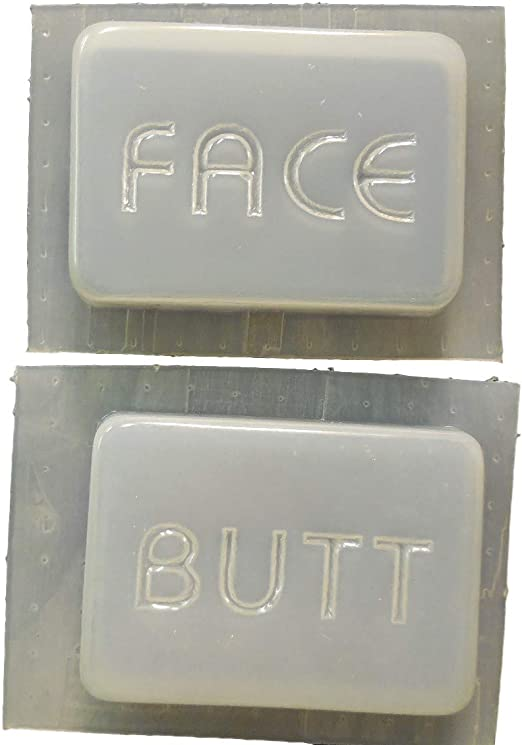 Decorative Face and Butt Bar Soap Mold Set of  2-4521 Moldcreations