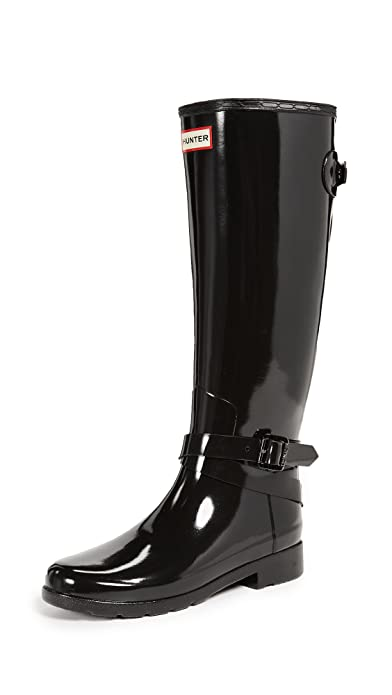 Hunter - Botas de Agua de Caucho Mujer, Color Negro, Talla 39 EU: Amazon.es: Zapatos y complementos
