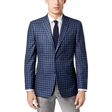 26000f5ee3b Tommy Hilfiger Men s Slim-Fit Blue Multi-Check Sport Coat at Amazon Men s  Clothing store
