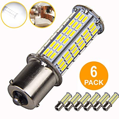 6Pcs Super Bright 1156 1141 1003 1073 BA15S 7506 LED Replacement Light Bulbs for Backup Reverse Turn Signal RV Indoor Lights (6-Pack, 6000K White): Automotive