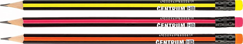 Centrum 88008/Bleistift HB dreieckig geschliffenem mit Radiergummi