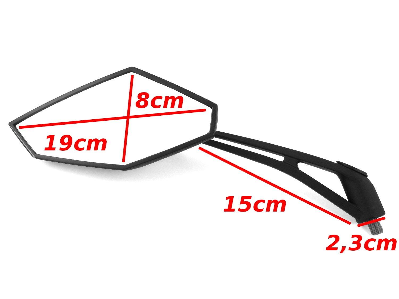 K 1300R E-gepr/üftes R/ückspiegel Spiegel Set B-M-W K 1200R V1 K 1200S M10x1,50 Gewinde