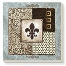 CounterArt Fleur de Lis Collage Absorbent Coasters, Set of 4