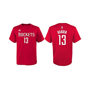 James Harden Houston Rockets Youth jóvenes Adidas NBA Player Red camiseta camisa