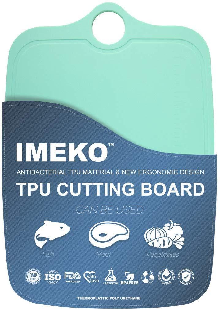 IMEKO New 2019 Kitchen Ergonomic Design TPU Cutting Board - Flexible, Food Safe, BPA free Chopping Mats