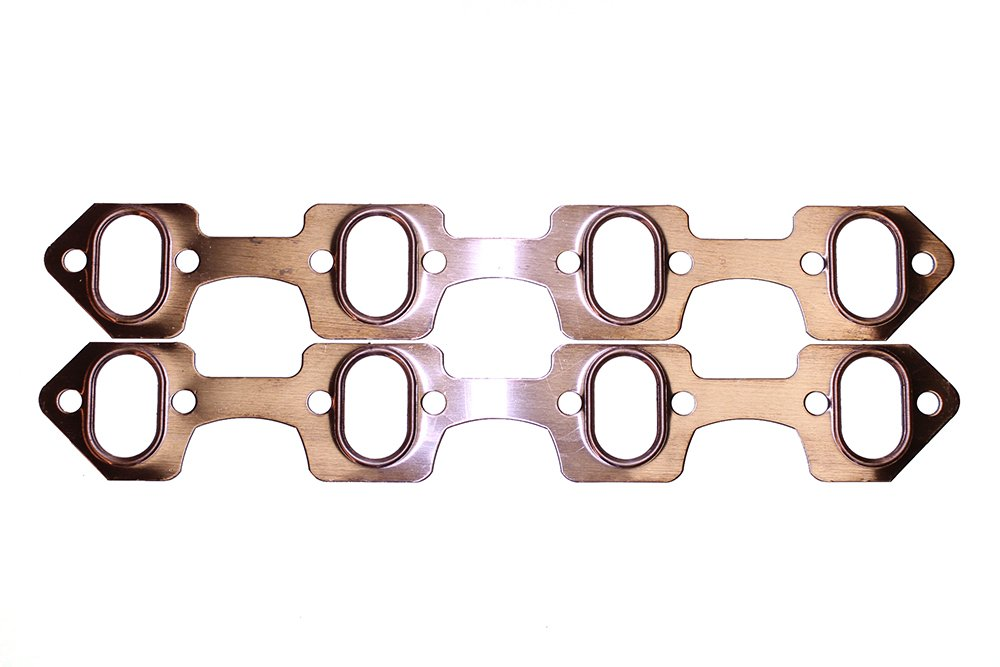 SCE Gaskets 4936 Pro Copper Header Gaskets for Ford 289-50L-351W V8 with Oval header openings