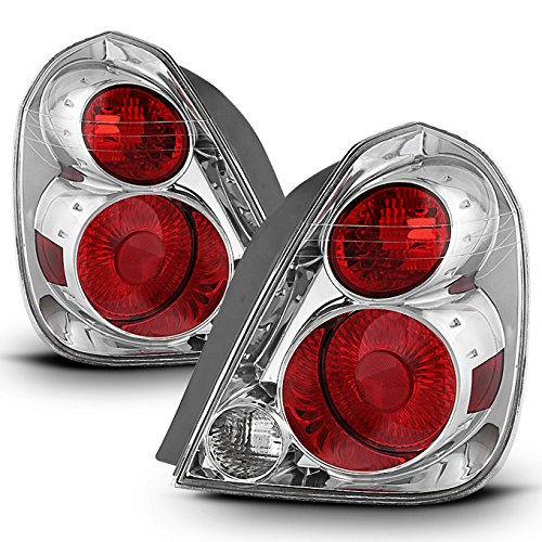 For 05-06 Nissan Altima Chrome Bezel OE Direct Replacement Tail Brake Lights Lamp L+R ()