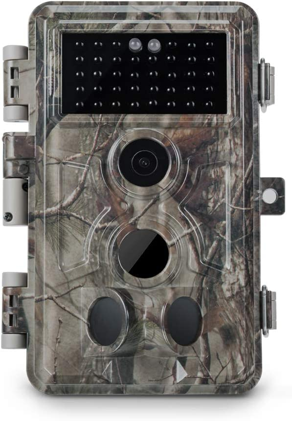 "Meidase Trail Camera 16MP 1080P, Game Camera with No Glow Night Vision Up to 65ft, 0.2s Trigger Time Motion Activated, 2.4"" Color Screen Waterproof Wildlife Hunting Camera"