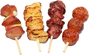 Toyvian Artificial Barbecue Fake Simulation Realistic Food for Decoration Display Props Real Model 4pcs(Mixed Style)