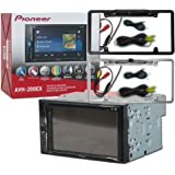 "Pioneer Double DIN 2DIN AVH-200EX 6.2"" Touchscreen Car stereo MP3 CD DVD player Bluetooth USB with DCO Full License plate Night vision waterproof back-up camera (Optional Color)"