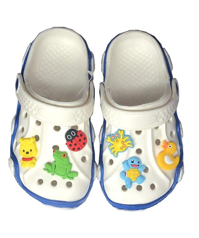 c45c1d9e861a6 Amazon.com  YAOYAO 100 Pcs PVC Different Shoe Charms for Crocs and Bands  Bracelets  Kitchen   Dining