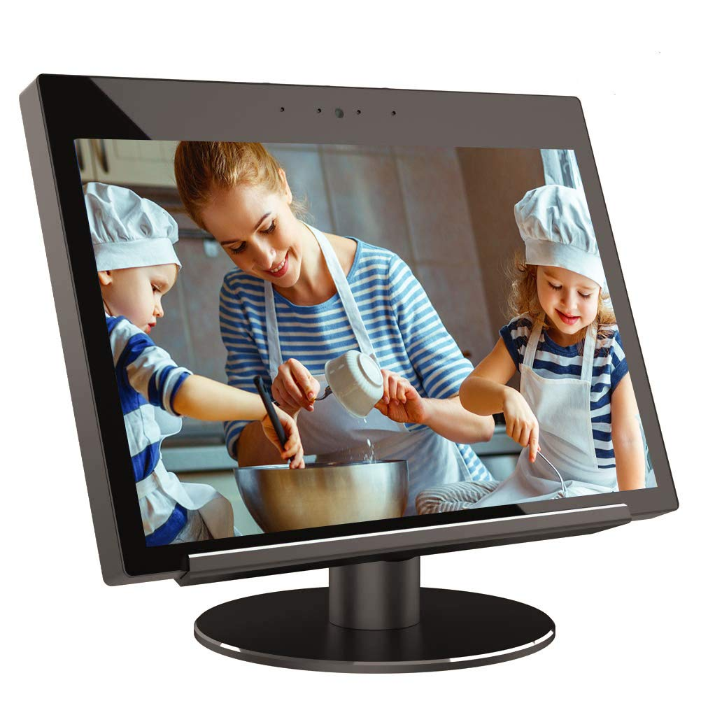 T.Face Echo Show Stand, Echo Show 2nd Generation Stand 360 Degree Rotation with Smooth Precision Ball Bearings Black