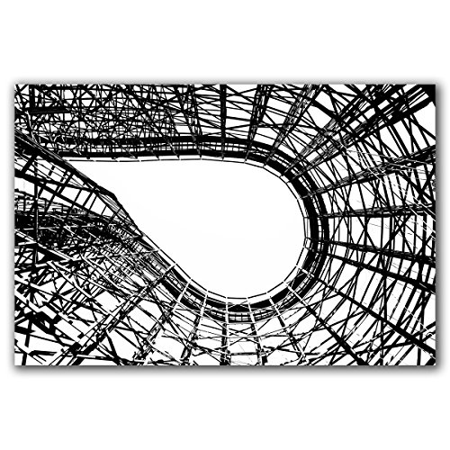 Knoebels Twister wooden roller coaster track photo in abstract black and white, original photograph printed on aluminum, ready to hang. by M. Kuznicki Photography