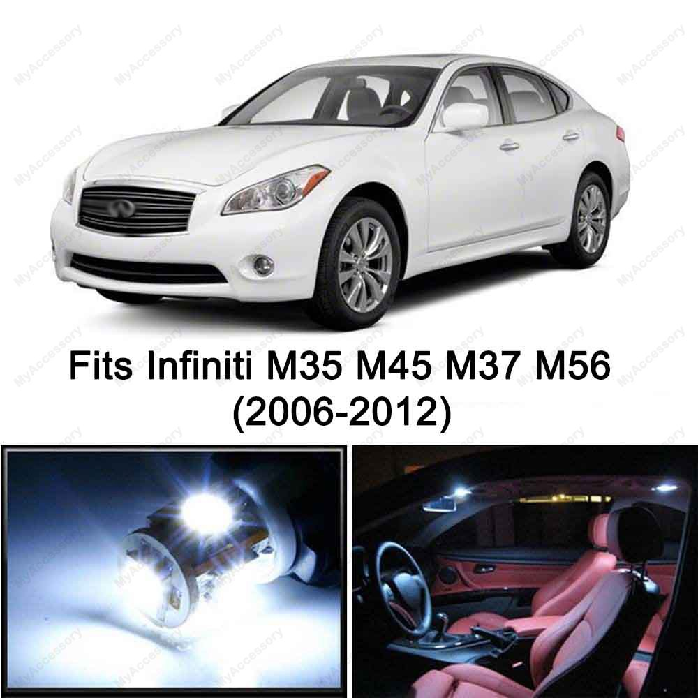 Amazon 16 x premium xenon white led light interior package amazon 16 x premium xenon white led light interior package kit for infiniti m35 m45 m37 m56 2006 2012 automotive vanachro Gallery