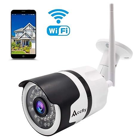 Accfly - Cámara IP para exteriores (Full HD, 960P, WiFi, cámara de seguridad inalámbrica IP66, ...