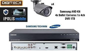 Samsung 4 x Full HD 1080p al aire libre bala cámaras y 1 x 4 canales