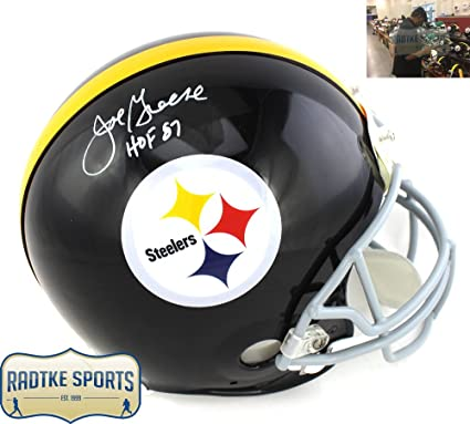 fa518f29d3d Joe Greene Autographed Signed Pittsburgh Steelers Authentic Throwback NFL  Helmet with  quot HOF 87 quot