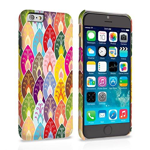 Caseflex iPhone 6 / 6S Hülle Mehrfarbig Hell Blättern Hart Schutzhülle