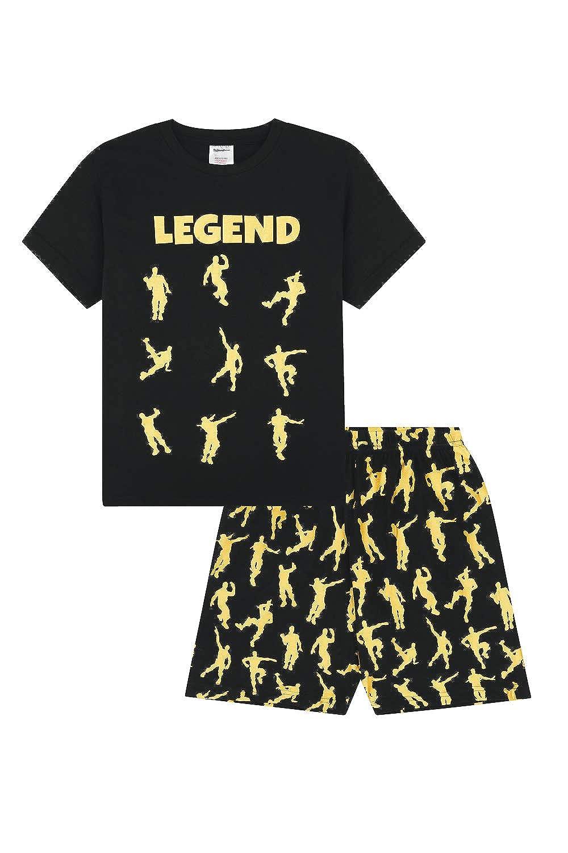 Pijama para Juegos de Baile algod/ón The Pyjama Factory Emote Legend Color Negro y Dorado