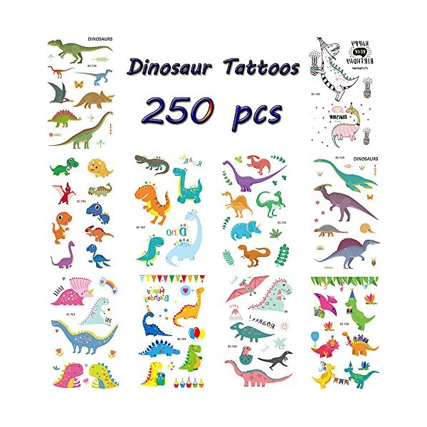 Zehhe Pack of 16 Sheets Unicorn Temporary Removable Tattoos for Kids Girls Boys Birthday Party, Unicorn Party Supplies… 3