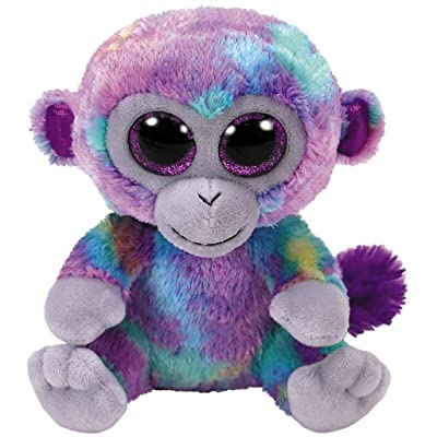Ty Beanie Boos Zuri - Monkey Multi-Colored med: Toys & Games