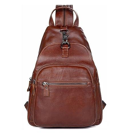 4d6638a54c Ybriefbag Outdoor Sports Genuine Leather Men Chest Bag Crossbody Bag Leisure  Shoulder Bags Riding Carry Bag
