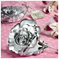 Fashioncraft, Wedding Party Bridal Shower Favors Gifts, Realistic Rose Design Mirror Compacts