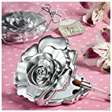 Fashioncraft, Wedding Party Bridal Shower Favors Gifts, Realistic Rose Design Mirror Compacts, Set of 60 For Sale