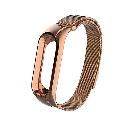 Saihui Correa para Xiaomi Mi Band 3 para Hombre Mujer Elegante Milanese Magnético Loop Acero Inoxidable